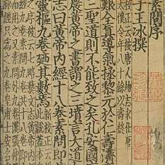 cropped image of Annotations on The Yellow Emperor's Classic