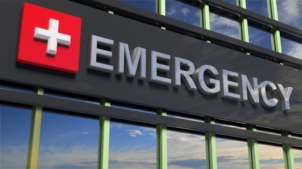 Photo of Emergency Sign on Building